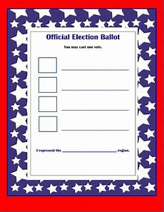 Voting Ballot Template For Word Election 2012 May The Best Character Win Part 2 Scholastic