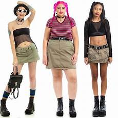 utility brat looks cargo skirts and skorts from the 90s
