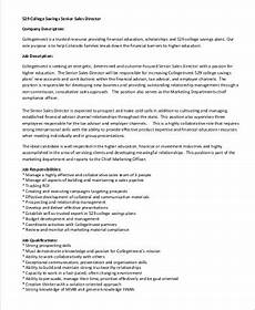 Regional Sales Director Job Description Free 9 Senior Director Job Description Samples In Pdf
