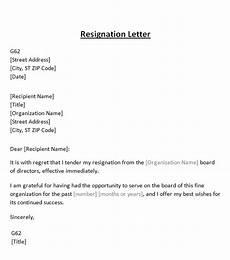Board Resignation Letter Sample Resignation Letter From Board Template Sample