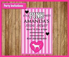 Pink Party Invitations Victorias Secret Pink Invitation Printable By