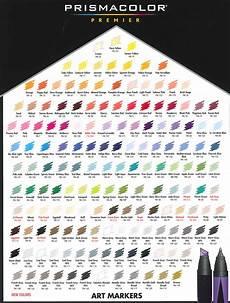 Prismacolor Art Markers Color Chart Prismacolor Markers Chart University Of Fashion