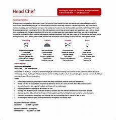 Free Chef Cv Template Chef Resume Template 14 Free Word Excel Pdf Psd