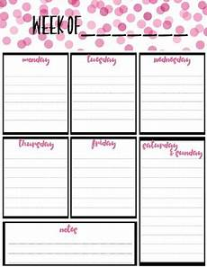 Printable Calendar Planner Free Weekly Calendar Planner Printable Full And Half Size