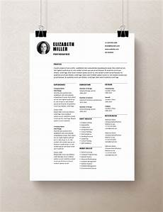 Curriculum Vitae Layout Template Simple Resume Templates Rumble Design Store