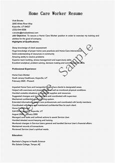 Home Health Care Resume Resume Samples Home Care Worker Resume Sample