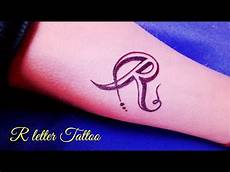 R Letter Designs On Hand Beautiful R Letter On Hand By By Kk Youtube