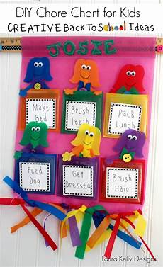 How To Make A Creative Chart Interchangeable Back To School Chore Chart S