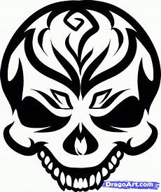 Tribal Skull Designs How To Draw A Tribal Skull Step By Step Tribal Art Pop