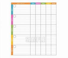 Exercise Log Excel Exercise Log Templates 10 Free Word Excel Amp Pdf