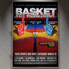 Basketball Tournament Program Template Basketball Tournament Premium Flyer Psd Template Psdmarket