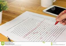 Paper Proofread Proofreading Paper On Table Stock Image Image Of Prove