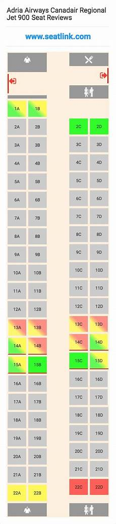Delta Crj 900 Seating Chart Adria Airways Canadair Regional Jet 900 Cr9 Seat Map