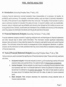 financial analysis example banking diploma examination accounting for financial