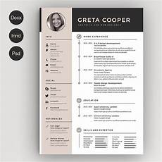 Creative Word Cv Templates Clean Cv Resume Ii Resume Templates Creative Market