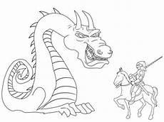 kostenlose malvorlage ritter und drachen riesiger drache