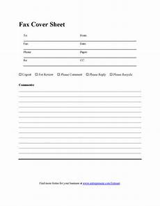 Fax Cover Sheet Blank Blank Fax Cover Sheet Printable Pdf