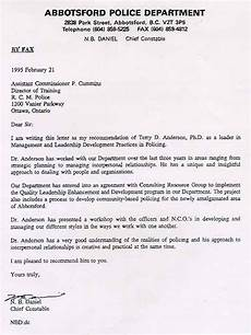 Letter Of Recommendation For Police Officer Letters Of Recommendation Consulting Coach Anderson
