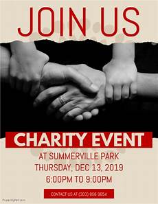 Charity Event Flyer Templates Free Charity Event Flyer Template Postermywall