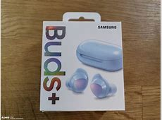 Pictures of the Samsung Galaxy Buds Plus, retail box