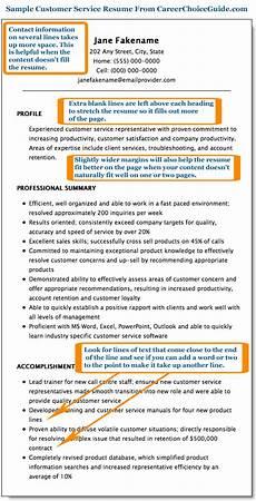 Customer Service Representative Tips Sample Customer Service Resume