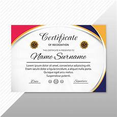 Template Of Award Certificate Abstract Creative Certificate Of Appreciation Award