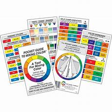 Cards And Pockets Color Chart A Pocket Guide To Mixing Colour Colour Wheel