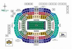 Maryland Football Seating Chart M Amp T Bank Stadium Diagrams Baltimore Ravens