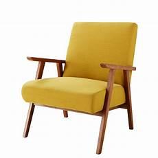 fauteuil sessel vintage fauteuil met mosterdgele bekleding hermann
