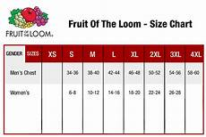 Fruit Of The Loom Size Chart Fruit Of The Loom 3930 Size Chart Chart Walls
