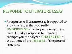 Response To Literature Essay Example Ppt Notes 4 Writing Types For 7th Graders Powerpoint
