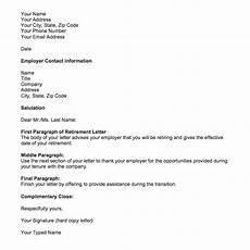 Retirement Letters Examples Retirement Letter Samples For Someone Retiring Top Form