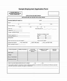 Sample Employment Application Pdf Free 9 Sample Application For Employment In Pdf Ms Word