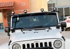 2017 Jeep Wrangler Unlimited Light Bar 2007 2017 Jeep Wrangler Jk 150w High Power Cree Led Light