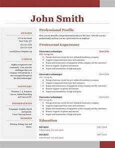 Resumes Download Free One Page Resume Template Free Download Downloadable