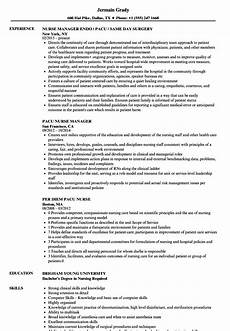 Pacu Rn Resume Pacu Rn Pacu Registered Nurse Resume July 2020