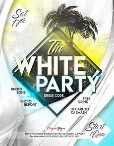 Free All White Party Flyer Template White Party Free Flyer Psd Template By Elegantflyer