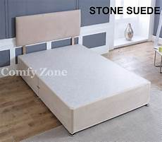 suede divan bed base 4ft small single 3ft 5ft