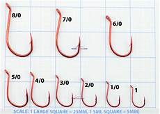 Hook Size Chart Mustad Big Red Suicide Fishing Hooks Single Packet