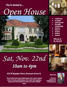 Real Estate Open House Flyers Free Open House Flyer Template Click To View Amp Download