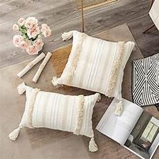 Farmhouse Sofa Pillows 3d Image by Ojia Boho Decorative Throw Pillow Cover 18 X 18 Farmhouse