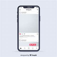 Instagram Photo Template Realistic Instagram Photo Frame On Iphone Template Vector