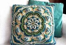 sea foam mandala pillow crochet cushion cover crochet