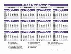 2020 Fiscal Year Calendar Uk Fiscal Calendar Template 2019 20 Free Printable Templates