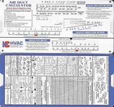 Slide Chart Air Duct Sizing Calculator Slide Rule Chart 736902510117