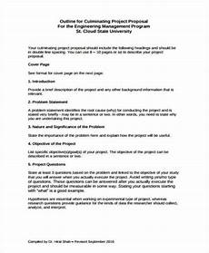 Sample Project Outline 12 Project Proposal Outline Templates Pdf Word Free