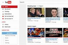You Tube Web Page Youtube Adds Breaking News Section To Homepage And