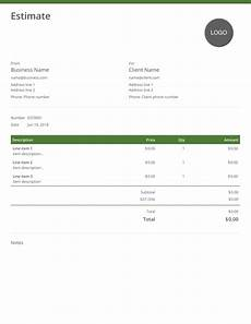 Estimation Template Estimate Template Download And Use For Free