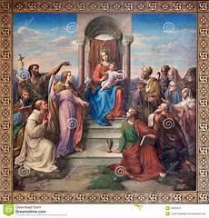 vienna fresco of madonna of vienna by leopold
