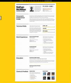 Design Your Cv A Few Interesting Resume Cv Website Designs